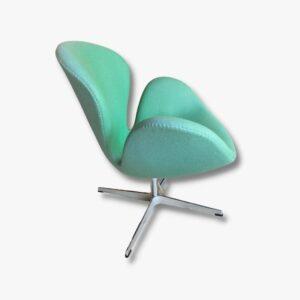 Schwan Sessel Fritz Hansen grüne Secondhand Vintage Möbel Dekoration Schweiz