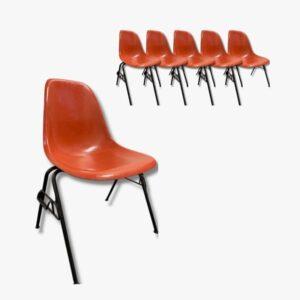 Eames Side Chair Orange Secondhand Vintage Möbel Dekoration Schweiz