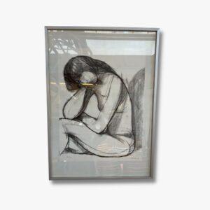 Lithographie Akt Frau Secondhand Vintage Möbel Dekoration Schweiz