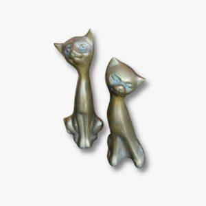 Katzen Figuren Wandlampe Kerzenständer 50er Küchenstuhl Secondhand Vintage Möbel Dekoration Schweiz