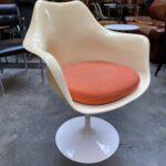 tulip armchair beige white vintage secondhand gebraucht schweiz kurato-5