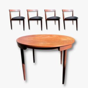 Mid-Cenutry Esstisch und vier Stühle von Hand Olsen für Frem Rojle aus den 50er Jahren.